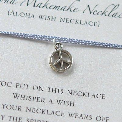 Aloha Makemake Necklace/アロハウィッシュネックレス【ピースマーク/パープル】