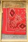 VINTAGE PAISLEY FAST COLOR BANDANA (RED)