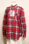 DEAD STOCK 70'S MURPHY'S MART CHECK PRINTED FLANNEL SHIRTS (RED/NVY/WHT/GRY)