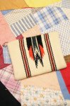 40'S GANSCRAFT CHIMAYO PURSE WHIT BALL CHAIN (O.WHT/BLK/RED/D.GRN)