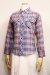 70'S SEARS CHECK LONG SLEEVE SHIRTS(BLE/RED/YLW/NVY)