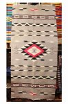 VINTAGE CHIMAYO BLANKET (GRY/WHT/RED/BLK)