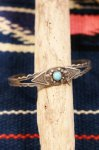 VINTAGE MAISEL'S INDIAN POST ARROWHEAD TURQUOISE SILVER BANGLE