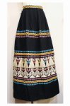50'S〜60'S GUATEMALA EMBROIDERED MAXI SKIRT (BLK)