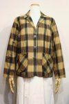 60'S INDIA COTTON CHECK TAILORED JACKET (Y.BEIGE/BLK)