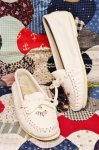 70'S BEADED MOCCASIN SHOES (WHT)