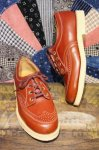 DEAD STOCK 50'S JPS WING TIP OXFORD SHOES (BRN)
