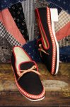 DEAD STOCK 60'S LOW HEEL CANVAS SHOES (BLK/RED/WHT)
