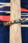 VINTAGE SILVER ARROW TURQUOISE SILVER BANGLE