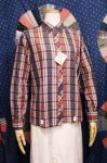 DEAD STOCK 60'S MADRAS CHECK B.D BOX SHIRTS (WHT/NVY/W.RED)