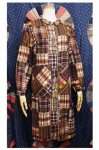60'S CHECK PATCHWORK PRINTED COTTON SHIRT DRESS (S.MULTI)