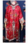 50'S CHINESE EMBROIDERED ORIENTAL GOWN (RED)