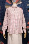 DEAD STOCK 80'S SERO ROUND COLLAR GRAPH CHECK SHIRTS (WHT/RED/NVY)