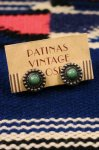 VINTAGE FRED HARVEY STYLE TURQUOISE SLIVER EARRINGS