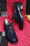 DEAD STOCK 60'S WING TIP LEATHER OXFORD SHOES (NVY)