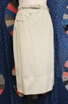 60'S EVAN PICONE STRIPE TIGHT SKIRT WITH BELT (WHT/GRN)