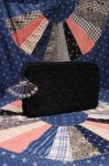 40'S CROCHET CORDE CLUTCH BAG WITH LUCITE CHARM (BLK)