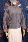 60'S SWING TOP JACKET WITH CHECK PRINT FLANNEL LINER (GRY)