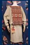 DEAD STOCK 1980'S AZTEC STOLE TOP & TIGHT SKIRT SET UP (A.BEIGE/ORG/BLK)