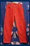 Levi's 501 OVER DYE DENIM 5 POCKET PANTS (MADE IN USA・RED)