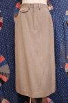 EARLY 80'S Ralph Lauren / Saks Fifth Avenue GABARDINE LONG SKIRT (BEIGE)