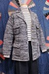 <img class='new_mark_img1' src='https://img.shop-pro.jp/img/new/icons43.gif' style='border:none;display:inline;margin:0px;padding:0px;width:auto;' />70'S 4 POCKET GOLD BUTTON KNIT JACKET (BLK/WHT)