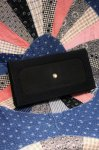 50'S CREPE PLEATED CLUTCH BAG WITH COIN PURSE (BLK)