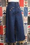 70'S DENIM GAUCHO PANTS (D.BLE)