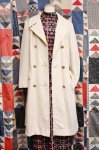 70'S smug DOUBLE BREAST POLYESTER COAT (IVY)