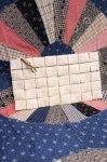 40'S PLASTIC TILE CLUTCH BAG (WHT)