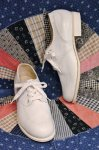 DEAD STOCK 60'S WING TIP LEATHER OXFORD SHOES (WHT)