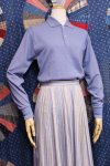 DEAD STOCK 60'S Donmoor LONG SLEEVE POLO SHIRTS SIZE 14 OR 16 (H.BLE)