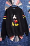 80'S MICKEY MOUSE FLOCK PRINT SWEATSHIRTS (BLK/RED/YLW)