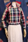 70'S Billy the Kid CHECK FULL SNAP SHORT JACKET (WHT/NVY/GRN/YLW/BGDY)