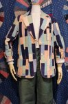 70'S INDIA COTTON PATCHWORK TAILORED JACKET (PASTEL)