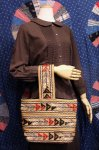 60'S JUTE EMBROIDERED ONE HANDLE BAG (N.BEIGE/RED/BLK/GRY)