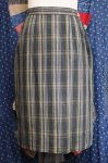 60'S CHECK COTTON TIGHT SKIRT (GRN/YLW/BLK)