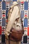 OLD COACH LEATHER SHOULDER BAG (MADE IN USA・D.BRN)