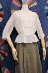 <img class='new_mark_img1' src='https://img.shop-pro.jp/img/new/icons43.gif' style='border:none;display:inline;margin:0px;padding:0px;width:auto;' />ANTIQUE EDWARDIAN  COTTON LACE BLOUSE (WHT)