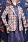 70'S Swingles CHECK TAILORED JACKET(BLE/PLM)