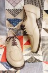 DEAD STOCK 60'S U-TIP LEATHER OXFORD SHOES (L.BEIGE)