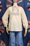 DEAD STOCK 70'S FLOWER HAND EMBROIDERED TUNIC TOPS (P.YLW)