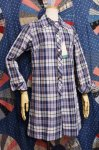 DEAD STOCK 60'S-70'S INDIA MADRAS B.D ROMPERS (NVY/WHT/BRN/YLW)