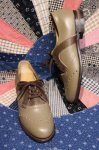 DEAD STOCK 60'S TWO TONE LEATHER OXFORD SHOES (OLV/GRN)