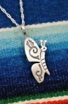 NEW NAVAJO BUTTERFLY SILVER PENDANT