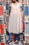VINTAGE 60'S LACE TRIM PUFF SLEEVE NEGLIGEE NIGHT DRESS (PNK)
