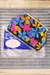 DEAD STOCK 60'S Lady Pride FLOWER PRINTED CLASP POUCH (BLK/PNK/BLE/ORG)