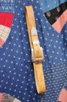 DEAD STOCK 70'S TOOLED LEATHER WESTERN BELT (TAN)