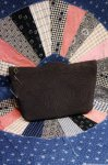 40'S CORD CLUTCH BAG WITH LUCITE CHARM (D.BRN)