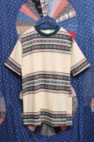 70'S CAMPUS NEVER IRON JACQUARD BORDER T-SHIRTS (IVY/GRN)